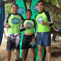 Bali beach surf school